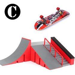 Abbony Skate Park Kit Ramp Parts, Mini Finger Skateboard Park For Tech Deck Fingerboard Ultimate ...