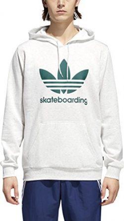 adidas Skateboarding Men's Clima 3.0 Hoodie Pale Melange/Collegiate Green X-Large