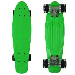 RIMABLE Complete 22″ Skateboard GREENCLEARBLACK