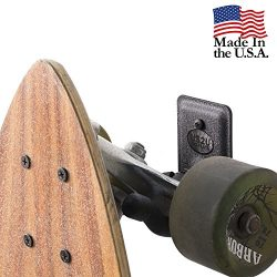 US2U Displays Skateboard Wall Hanger or Longboard Mount for flat surface – US06-FW-S