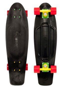 Penny Nickel Complete Skateboard, Rasta, 27″ L
