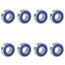 TRIXES 8 Frictionless Abec 9 Sealed Skateboard Roller Skate Bearings