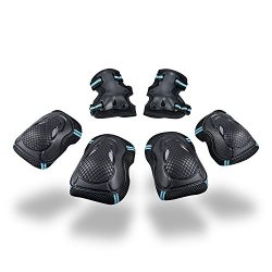 S.K.L Kids Knee Pads 6pcs Professional Child's Pad Set Toddler Knee Pads Elbow Pads with W ...