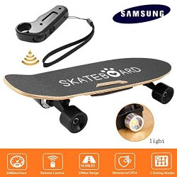 Rapesee 7-Layer Maple Electric Skateboard Penny Board, 350W Battery Powered Skateboard Automatic ...