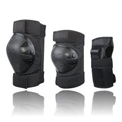 CCTRO Child Youth Adult Knee Pads Elbow Pads Wrist Guards 3 In 2 Protective Gear Set For Multi S ...