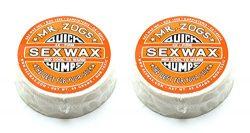 Sex Wax Unisex Quick Humps Surf Wax/4X Firm – Orange Twin Pack