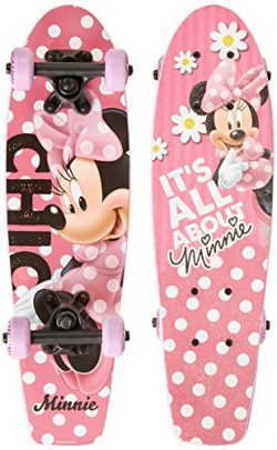 "PlayWheels Disney Minnie Mouse 21"" Wood Cruiser Skateboard"