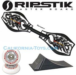 Razor Ripstik Limited Edition SERPENT Caster Board Skate Board w/ PUNK RAMP & Extra Set of G ...