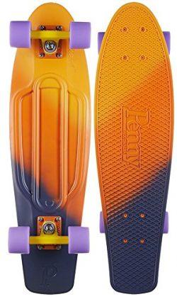 Penny Nickel Fade Complete Skateboard, Dusk, 27″