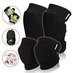 Innovative Soft Toddler Knee and Elbow Pads Plus Bike Gloves | Kids Protective Gear Set | Comfor ...