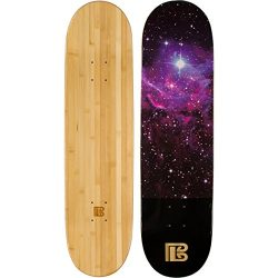 Bamboo Skateboards Nebula Graphic Skateboard Deck, Natural, 8.0″ x 31.75″