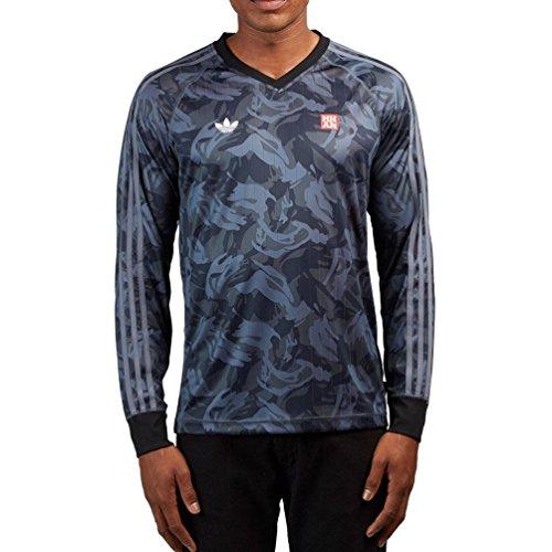 adidas Originals Men's Skateboarding Mhak All Over Print Jersey, Black/Onix, XL
