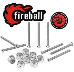 Fireball Dragon Stainless Steel Skateboard Hardware Set (Flat Phillips, 2.5″)