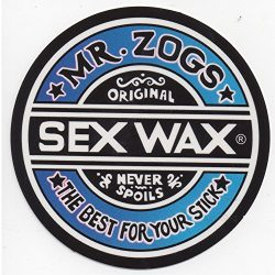 Mr. Zoggs SEX WAX STICKER 7″ CIRCULAR FADE BLUE