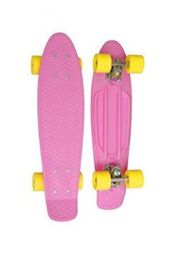 MoBoard Graphic Complete Skateboard | Pro/Beginner | 22 inch Vintage Style with Interchangeable  ...