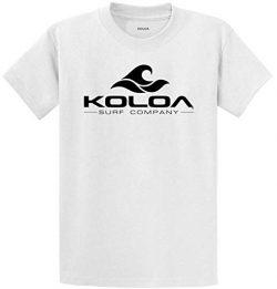 Koloa Surf Classic Wave Logo Cotton T-Shirt-4X-Large,White/b