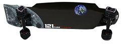 121C Aileron Carbon Fiber Skate Cruiser Board with Sharkwheels – Standard Flex (Space Insp ...