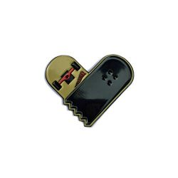 Broken Skateboard Heart – 1″ wide enamel lapel pin – Great for jackets, backpa ...