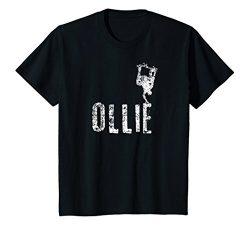 Kids Funny Skateboarding Shirt, Ollie Skater Gift 8 Black