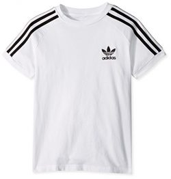 adidas Originals Big Boys' Originals California Tee, White/Black, S