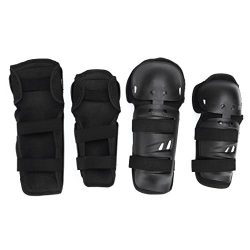 Elbow Pads – All4you 4Pcs Adult BMX Bike Knee Pads Elbow Pads Wrist Guards Protective Gear ...