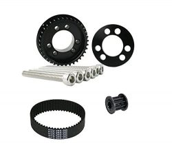 36 Teeth Drive Pulley Kit Flywheel Parts 12mm Belt Motor Gear Bolts Retainer DIY for 83mm 90mm 9 ...