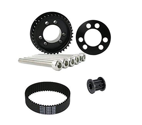36 Teeth Drive Pulley Kit Flywheel Parts 12mm Belt Motor Gear Bolts Retainer DIY for 83mm 90mm 9 ...