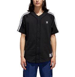 adidas Originals Men's Skateboarding Baseball Jersey, Black/White, XL