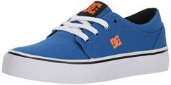 DC Boys' Trase TX Skate Shoe, Blue/White/Orange, 6.5 M M US Big Kid
