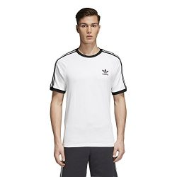 adidas Originals Men's Originals 3 Stripes Tee, White, XL