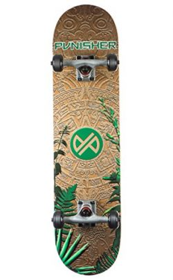 Punisher Skateboards MAYAN Complete Skateboard with Convace Deck
