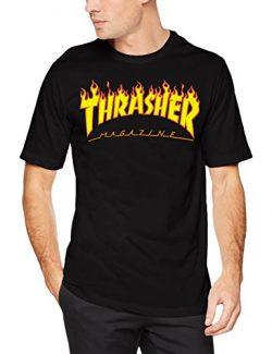 Thrasher Magazine Flame Logo T-Shirt – Small- Black