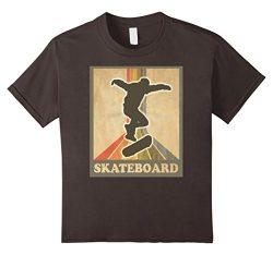 Kids Vintage and Retro Skateboarding Shirt Skateboard Tee 10 Asphalt