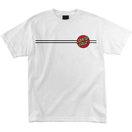 Santa Cruz Skateboards Classic Dot Short Sleeve T-Shirt (Large, White)