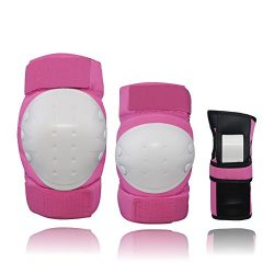 CCTRO Child Youth Adult Knee Pads Elbow Pads Wrist Guards 3 In 5 Protective Gear Set For Multi S ...