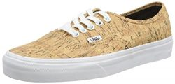 Vans Authentic Skate Shoe – Men's (cork) Tan/True White, Mens 8.5/Womens 10.0