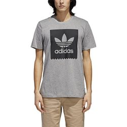 adidas Originals Men's Skateboarding Solid Blackbird Tee, Core Heather/Black, L