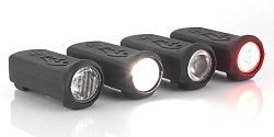 Skateboard Lights – Shred Lights Combo- Set Comes With Two Headlights and Two Tail Lights  ...