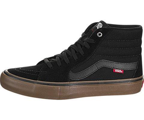 Vans Sk8-Hi Pro Skate Shoe – Men's Black/Gum, 9.5