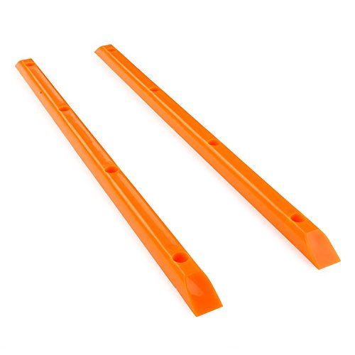 Yocaher Skateboard / longboard Rails Ribs Bones 14.5″ Glow Blue and neon colors (Neon Orange)