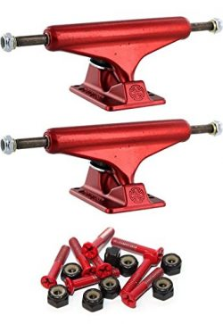 Independent 129mm Forged Hollow Standard 5.0″ Skateboard Trucks with 1″ Red Mounting ...