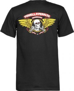 Powell-Peralta Winged Ripper T-Shirt, Black, Large