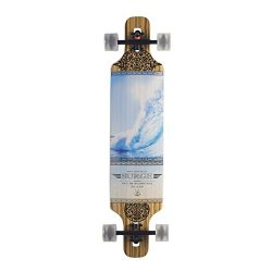 BACKFIRE Drop Through Longboard Complete Lightweight 39 8.625inch Professional longboards (Blue)