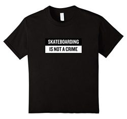 Kids Skateboarding is not a crime T-Shirt Skate Tee Skateboard 10 Black