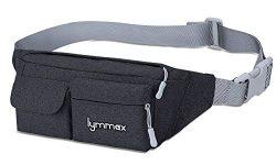 Lymmax Fanny Pack 4 Pockets Running Belt Adjustable Water Resistant Waist Bag Pack for Men Women ...