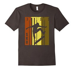 Mens Skateboarding T Shirt Skater Tee Skate Board Retro T-Shirt Medium Asphalt
