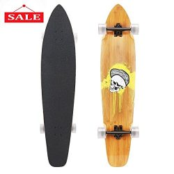 RockBirds Longboard, 44 inch Complete Super Cruiser Longboard, 7 Layer Canadian Maple Deck (44in ...