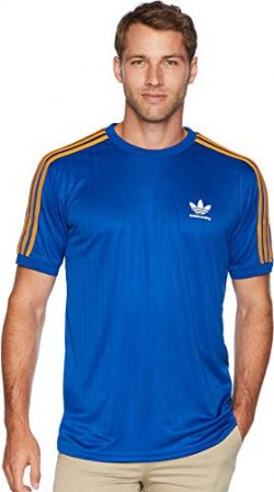 adidas Skateboarding Men's Clima Club Jersey Collegiate Royal/Tactile Yellow Small