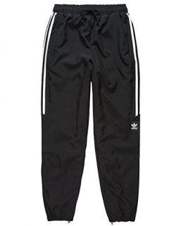 adidas Originals Men's Bottoms Skateboarding Classic Wind Pants, Black/White, XX-Large