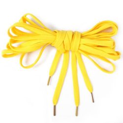Extra Long Canvas Sneaker Punk Skate Shoes Laces, Yellow